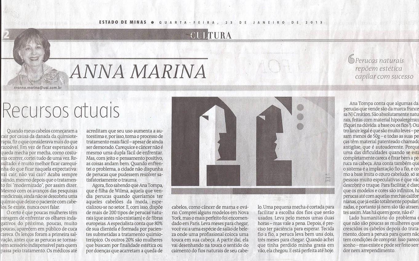 Coluna Anna Marina - Jornal Estado de Minas