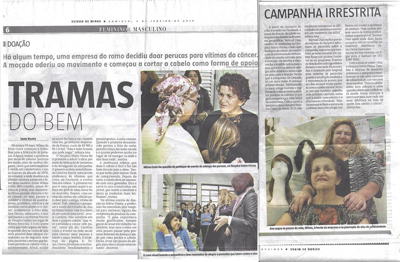 Jornal Estado de Minas - Tramas do Bem