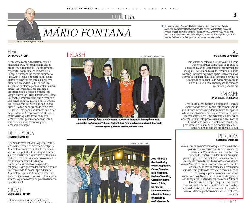 Jornal Estado de Minas coluna Mário Fontana