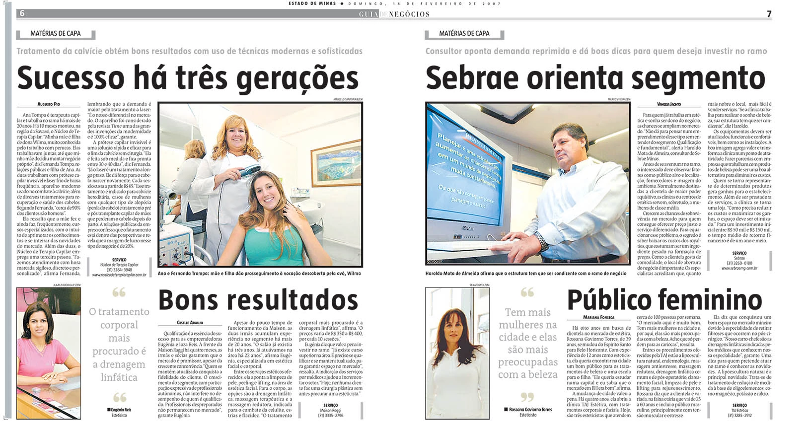 Sucesso ha tres geracoes - Estado de Minas - 2007